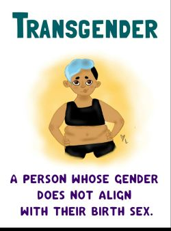 Transgender - A person whose gender does not align with their birth sex.